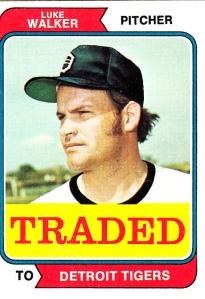 1974 Traded Luke Walker