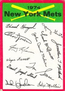 1974 Mets Checklist