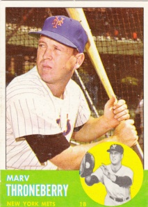 1963 Topps Marv Throneberry