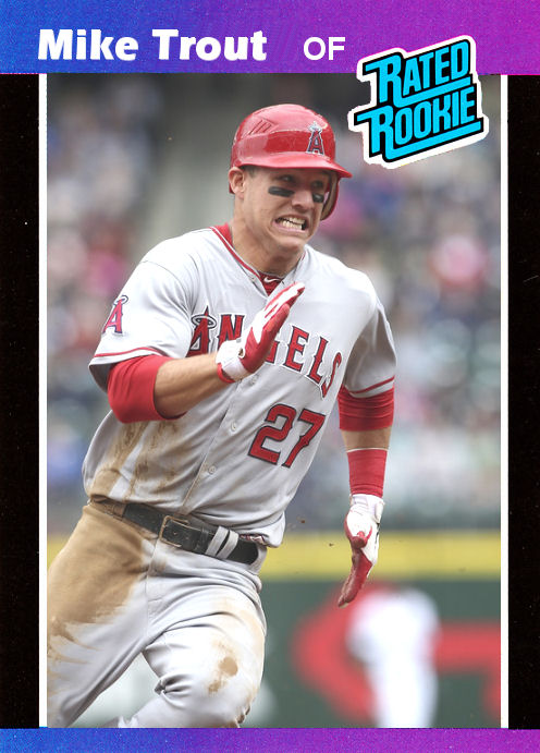 Mike Trout Custom 1989 Donruss Rated Rookie