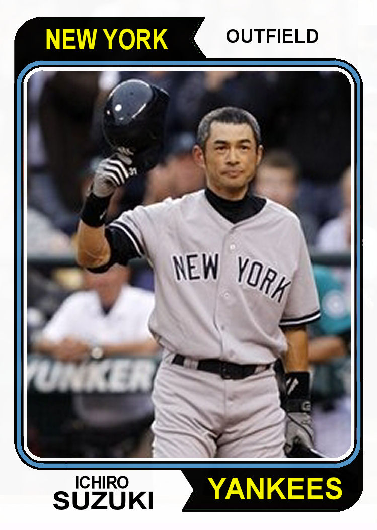 Ichiro Suzuki Yankees Baseball Card