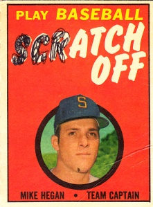 1969 Topps Scratch Off Mike Hegan