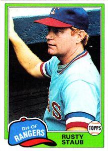 1981 Topps Rusty Staub