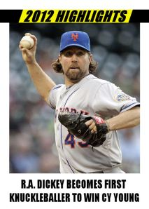 2012 Card #720 - R.A. Dickey Cy Young