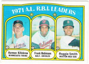 1972 Topps AL RBI Leaders