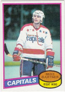 1980-81 Topps Hockey Mike Gartner