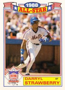 1989 Topps All-Star Glossy Darryl Strawberry
