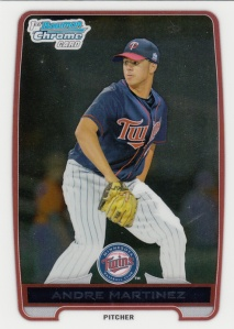 2012 Bowman DP&P Chrome Andrre Martinez