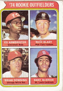 1974 Topps Rookie Outfielders #601