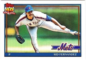 1991 Topps Sid Fernandez