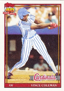 1991 Topps Vince Coleman Altered