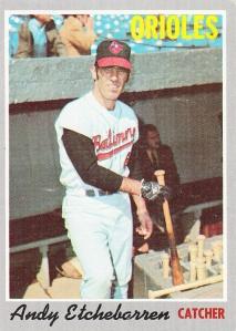 1970 Topps Andy Etchebarren