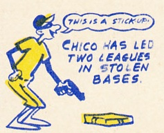 1970 Topps Chico Salmon cartoon