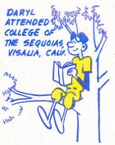 1970 Topps Daryl Patterson cartoon