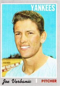 1970 Topps Joe Verbanic