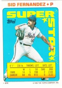 1990 Topps Stickers Sid Fernandez
