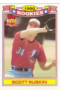 1991 Topps Glossy Rookies Scott Ruskin