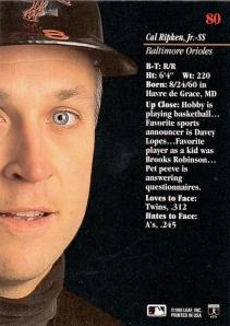 1993 Studio Ripken Back