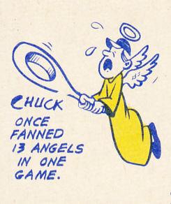 1970 Topps Chuck Dobson Cartoon
