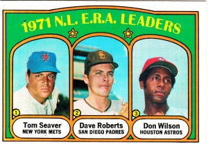 1972 Topps 1971 NL ERA Leaders