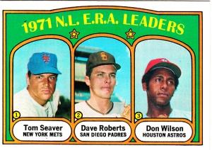 1972 Topps 1971 NL ERA Leaders