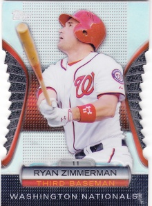 2012 Topps Golden Moments Die Cut Ryan Zimmerman