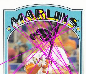 2013 Topps 1972 Mini Giancarlo Stanton with lines