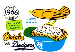 1970 Fleer World Series 63 Orioles Dodgers