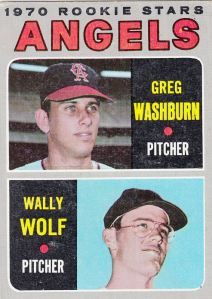 1970 Topps Angels Rookies Washburn Wolf