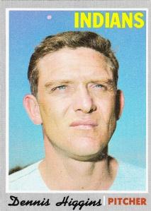 1970 Topps Dennis Higgins