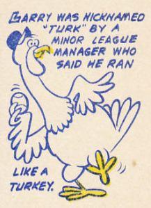 1970 Topps Larry Burchart Cartoon