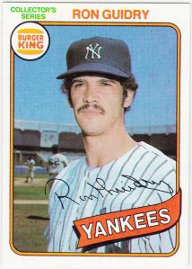 1980 Burger King Ron Guidry
