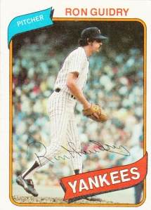 1980 Topps Ron Guidry