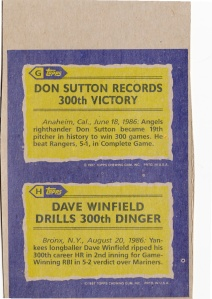1987 Topps Box Cards Sutton Winfield Back