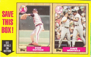 1987 Topps Box Cards Sutton Winfield