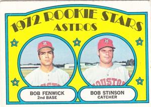 1972 Topps Astros Rookie Stars Fenwick Stinson