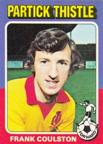 1975-76 Topps Scottish Footballers Frank Coulston