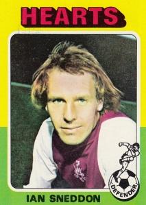 1975-76 Topps Scottish Footballers Ian Sneddon