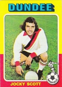 1975-76 Topps Scottish Footballers Jocky Scott
