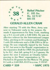 1976 SSPC #559 Jerry Cram back
