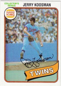 1980 Burger King Jerry Koosman
