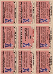 1982 Cracker Jack AL Back