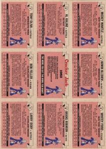 1982 Cracker Jack AL Back