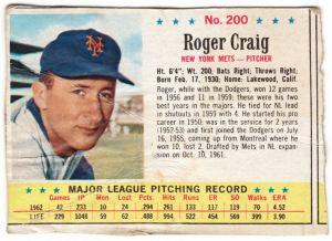 1963 Post Roger Craig