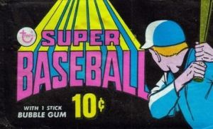 1971 Topps Super Baseball Wrapper