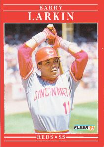 1991 Fleer Revised Barry Larkin