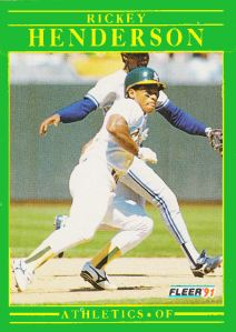 1991 Fleer Revised Rickey Henderson