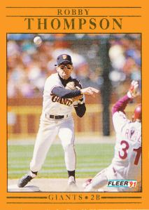 1991 Fleer Revised Robby Thompson
