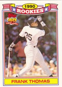 1991 Topps Rookies Glossy Frank Thomas