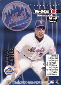 2001 MLB Showdown Todd Zeile